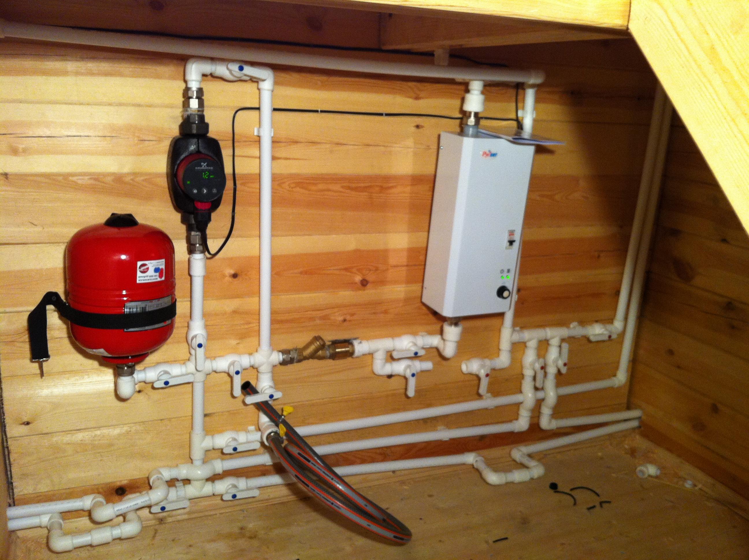 Схема электроотопления в частном доме фото