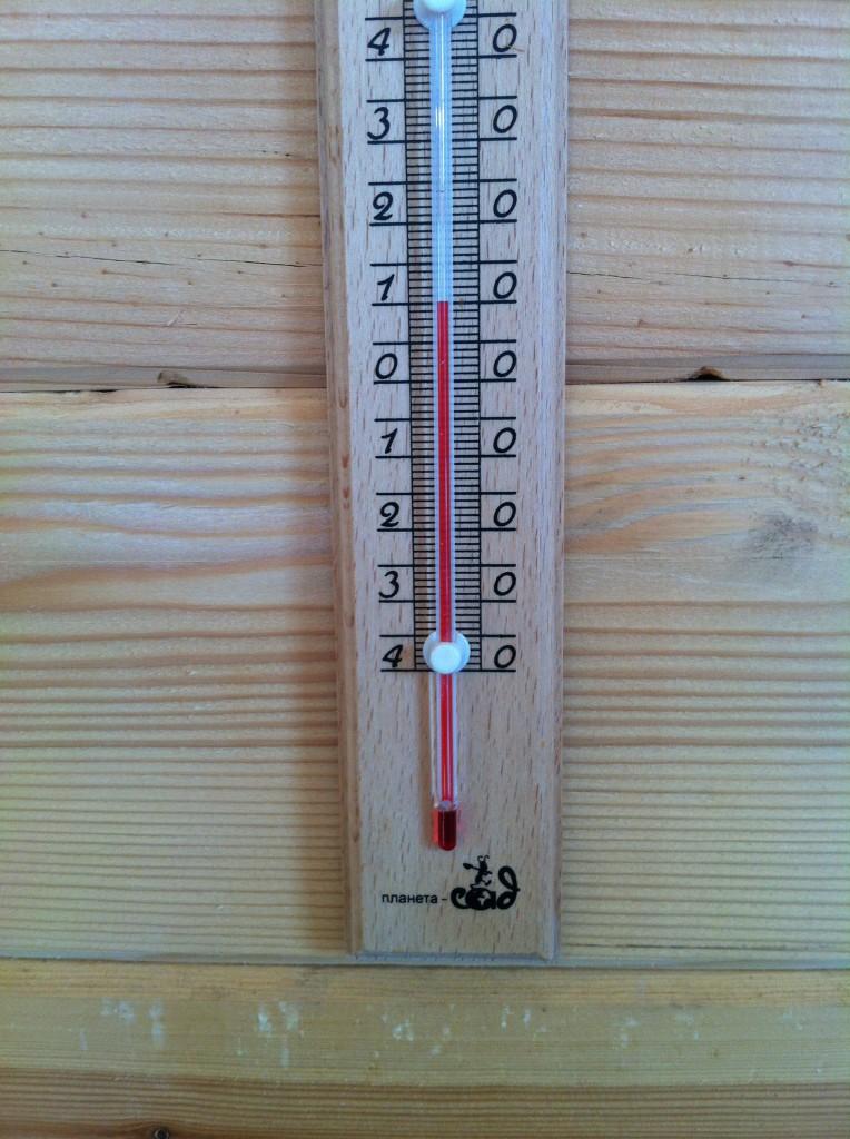 Термометр в комнате